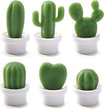 6pcs imanes de nevera con forma de cactus iman de