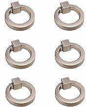 6PCS Manijas del anillo del cajón del gabinete