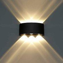 6W Aluminio LED Aplique de pared interior, moderno