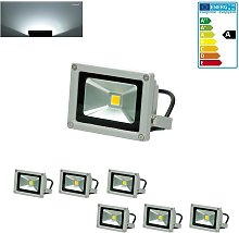 6x Foco proyector LED reflector pared exterior
