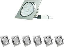 6x LED Foco LED empotrado 9W 230V - Regulable -