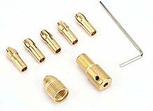 7pcs 0.5-3mm Broca eléctrica Collet Micro Twist