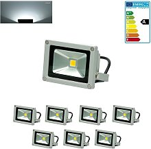 7x Foco proyector LED reflector pared exterior