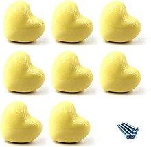 8 perillas de cerámica para cajones en forma de