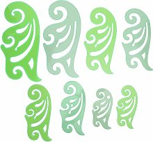 8 piezas de dibujo curvo Plantilla de dibujo curvo