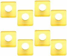 8 Un. Pomo TIRADOR Mueble resina amarillo cromo