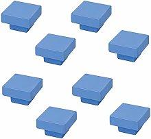 8 Un. TIRADOR Pomo Mueble resina ABS pintado azul