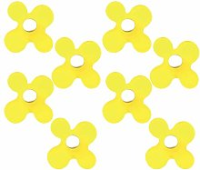 8 Un. TIRADOR Pomo Mueble resina amarilla cromo