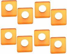 8 unidades pomo tirador mueble resina naranja