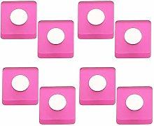 8 unidades pomo tirador mueble resina rosa cromo