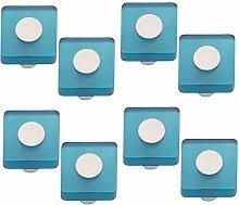 8 unidades tirador pomo mueble resina azul