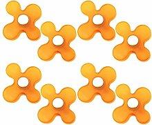 8 unidades tirador pomo mueble resina naranja