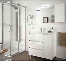 85117 ARENYS 855 Conjunto Mueble Blanco Brillo -