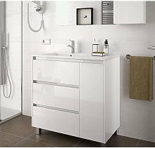 85118 ARENYS 855 Mueble+Lavabo Blanco Brillo -