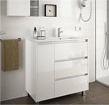 85127 ARENYS 855 Mueble+Lavabo Blanco Brillo -