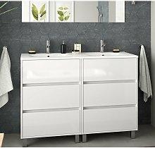 85150 ARENYS Mueble+Lavabo 120 Blanco Brillo -