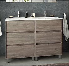 85151 ARENYS Mueble+Lavabo 120 Roble Eternity -