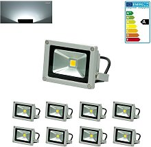 8X Foco proyector LED reflector pared exterior