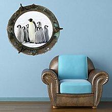A todo color, ojo de buey, pingüino, barco