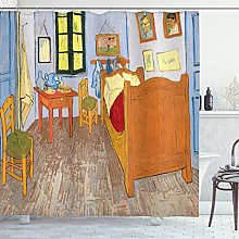 ABAKUHAUS Arte Cortina de Baño, Estilo Pintura