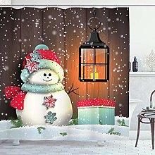 ABAKUHAUS Navidad Cortina de Baño, Jardín con