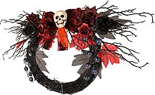 ABOOFAN de Halloween Cabeza de Calavera de Puerta