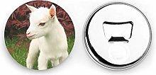 Abrebotellas redondos de cabra / Imanes de nevera