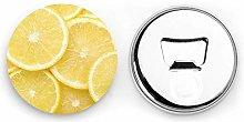 Abrebotellas redondos de limón amarillo / Imanes