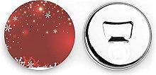 Abrebotellas redondos de Navidad / Imanes de
