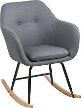 AC Design Furniture Mecedora, Tela, Gris Oscuro,