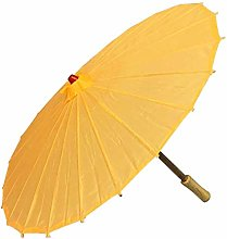 Acan Sombrilla Típica China Color Amarillo Oro
