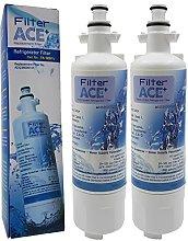 ACE+   Paquete de 2 - Filtro de agua frigorífico