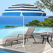 ACXZ Sombrilla de Playa Parasol a Rayas de 240 cm,