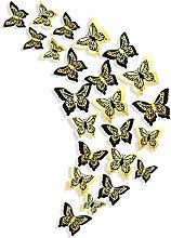 Adhesivos decorativos mariposas negras y doradas