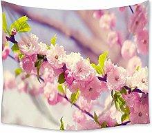 AdoDecor Tapiz con Estampado de Flores de