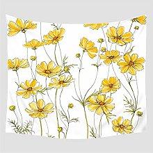 AdoDecor Tapiz Serie de Flores Crisantemo Amarillo