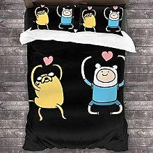 Adventure Time - Juego de funda de edredón de 3