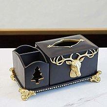AERVEAL Soporte de Papel Golden Deer Tissue Box