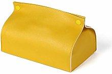 AERVEAL Tejido Caja de Pañuelos de Papel Amarillo