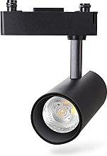 Aigostar - Foco de carril LED Bifásico Negro,