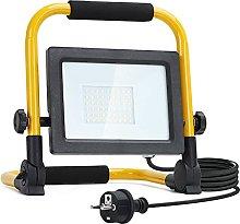 Aigostar Foco de Trabajo LED 30W,6500K Luz Blanca,