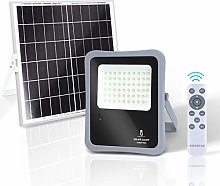 Aigostar - Foco proyector LED solar con mando a