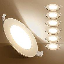 Aigostar Ojos de buey de LED, 9W equivalente 45W,