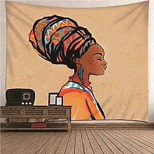 Aimsie Tapiz de pared con tema de mujer africana,
