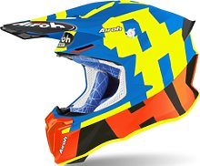 Airoh Twist 2.0 Frame Casco de Motocross, azul, S