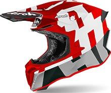 Airoh Twist 2.0 Frame Casco de Motocross, rojo, M
