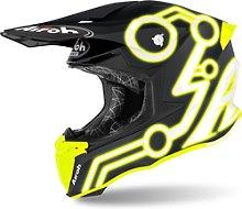 Airoh Twist 2.0 Neon Casco de Motocross, amarillo,