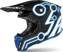 Airoh Twist 2.0 Neon Casco de Motocross, azul, L
