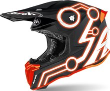 Airoh Twist 2.0 Neon Casco de Motocross, naranja, S