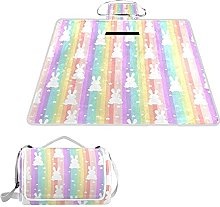 ALAZA Manta rectangular impermeable para pícnic,